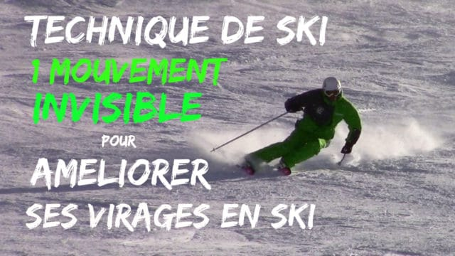 [VIDEO] Technique de ski : 1 mouvement INVISIBLE pour AMELIORER ses virages en SKI
